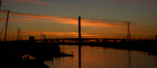 Sunset over the Bolte Bridge IMG_1466 by MrYJDrake