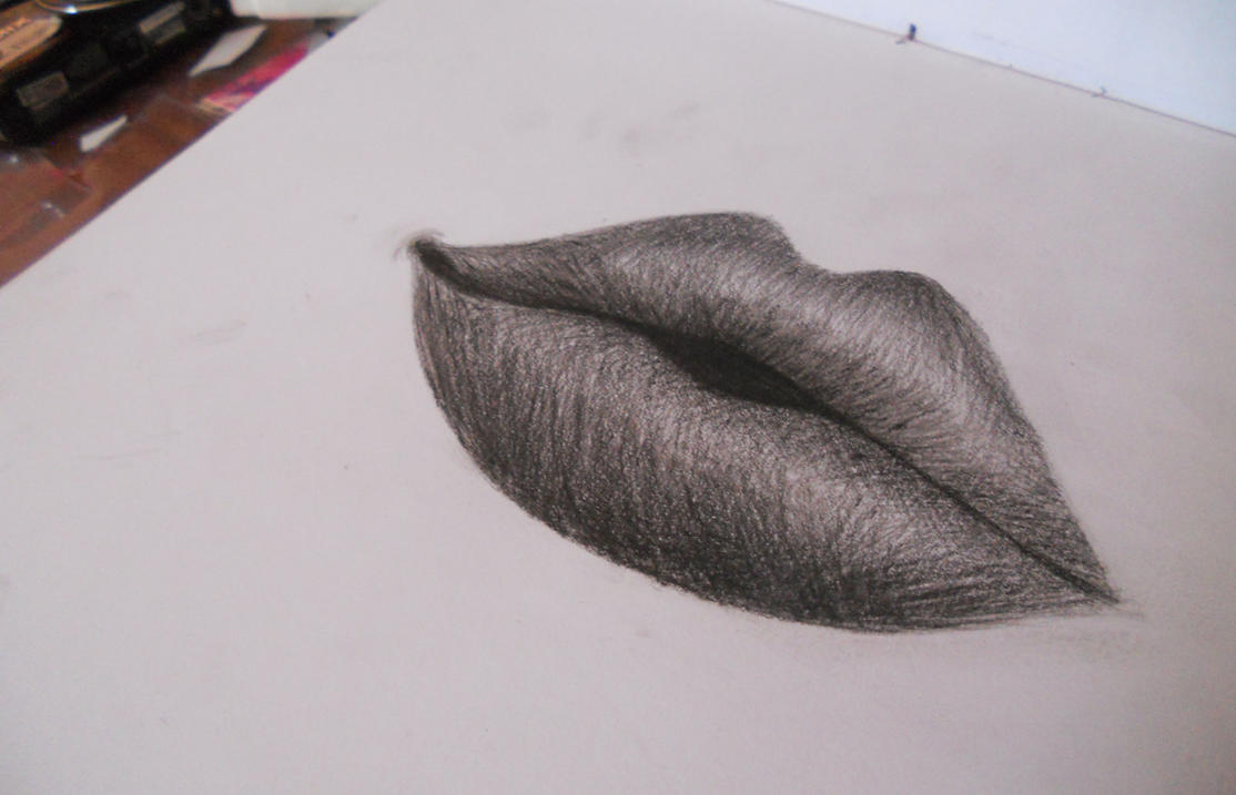 Sexy Lips Drawing by isartdesign