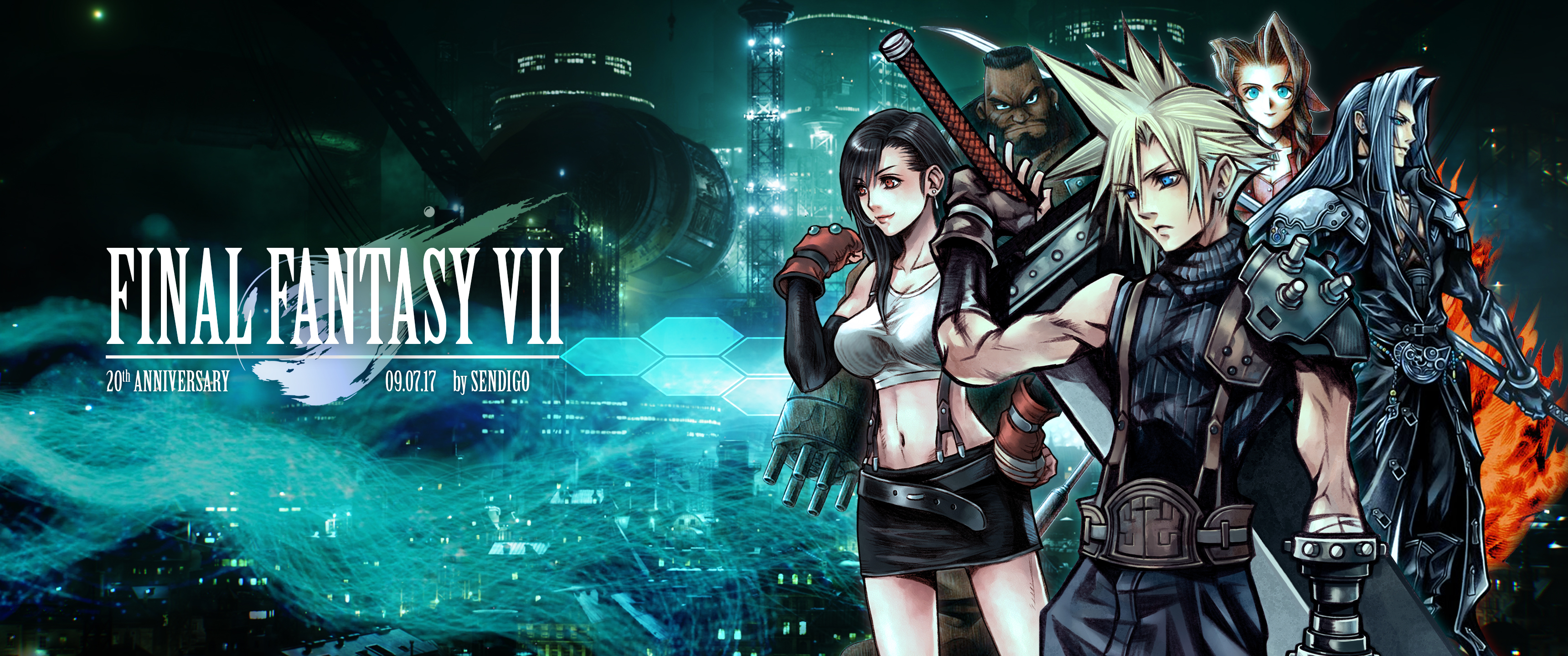 Final Fantasy Vii 20th Anniversary Wallpaper By Sendigo On