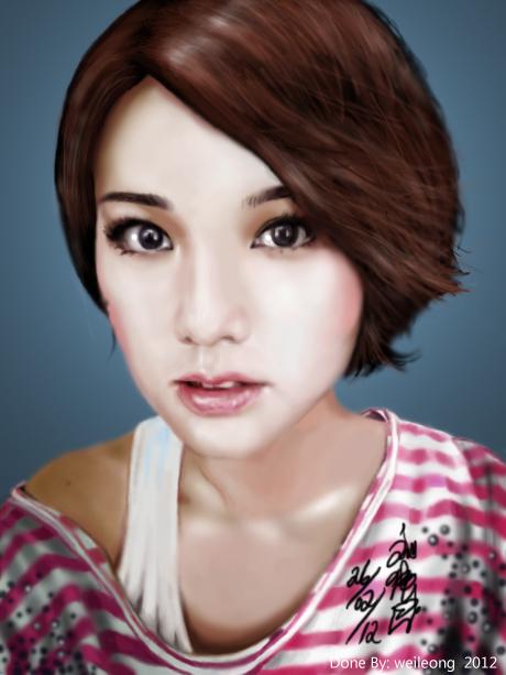 Rainie Yang Hairstyle 2013