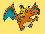 Charizard and Pikachu