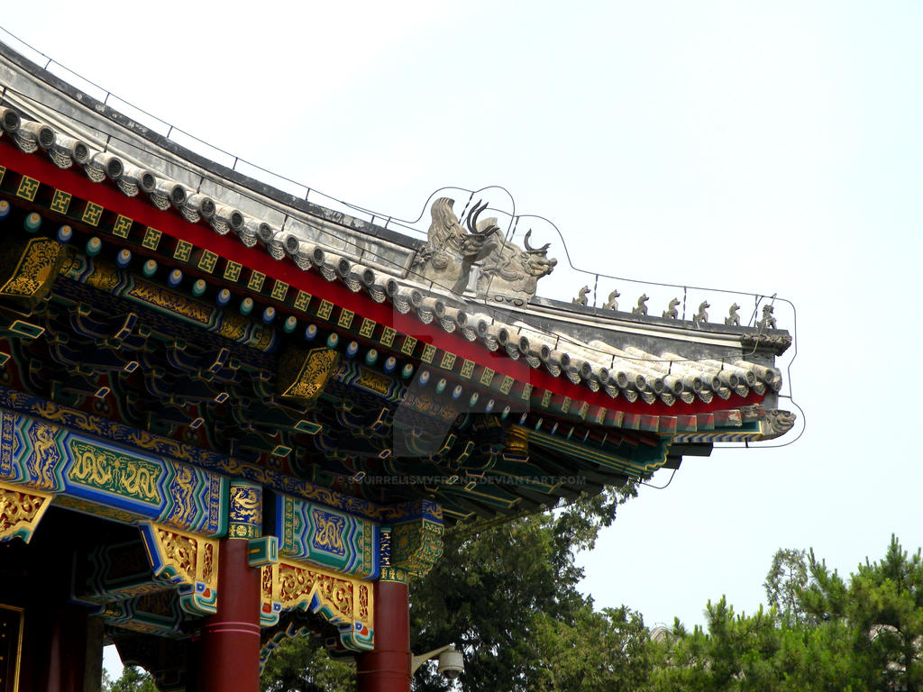 roof details summer palace beijing china by squirrelismyfriend