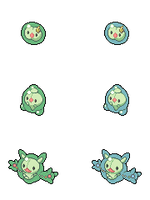 Solosis, Duosion and Reuniclus - Hi-res Icons by Levaine