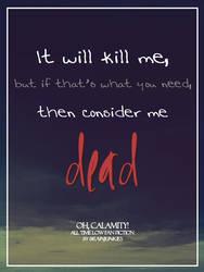 Oh, Calamity! Quote