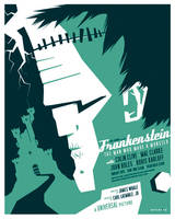 frankenstein poster by strongstuff