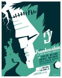 frankenstein poster by strongstuff