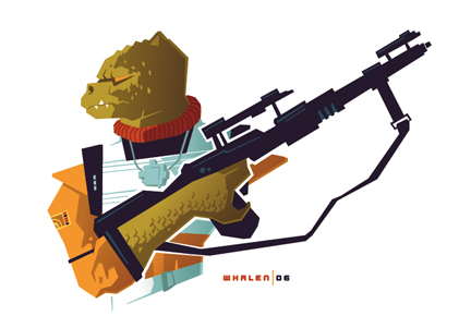 bossk minibust by strongstuff