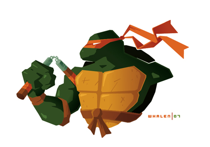 michaelangelo minibust by strongstuff