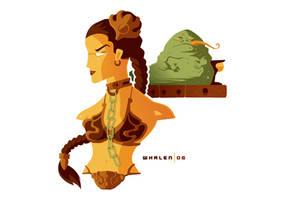 slave leia minibust by strongstuff