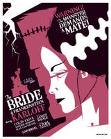 bride of frankenstein poster by strongstuff