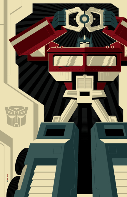 Beautiful Modern Vintage Illustration by Tom Whalen
