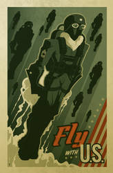 'fly with U.S.' poster