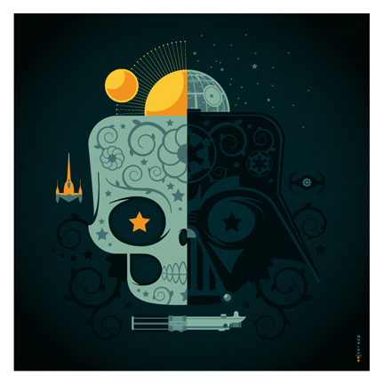 darth vader sugar skull by strongstuff