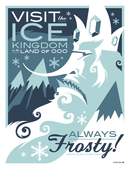 adventure time travel poster