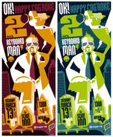 keyboard man poster by strongstuff