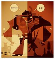 cowboy+samurai posters by strongstuff