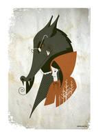 big bad wolf miniprint by strongstuff