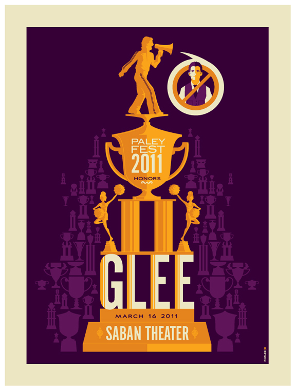 paleyfest: glee poster by strongstuff