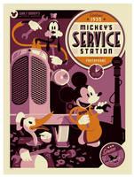 mondo: mickeys service station by strongstuff
