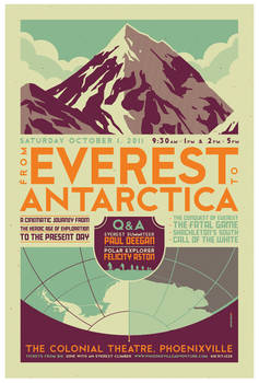 'everest to antarctica' poster
