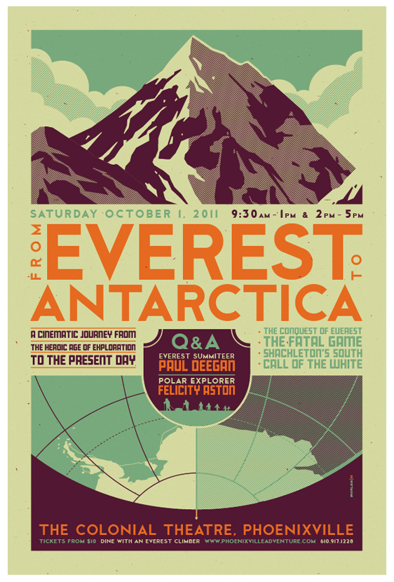 """everest to antarctica"" poster by strongstuff"