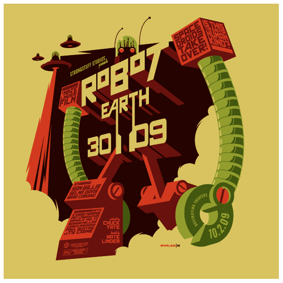 robot earth 3009 t-shirt by strongstuff