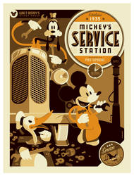 mondo: mickey's serice station var by strongstuff
