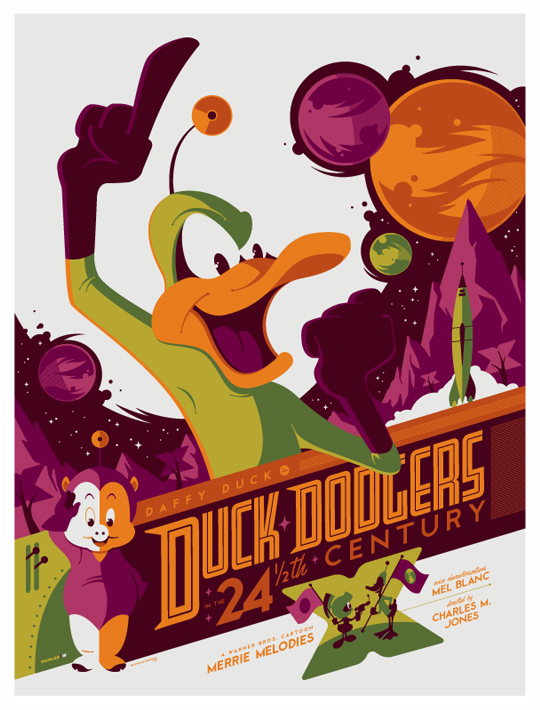 Daffy duck som Duck Dodgers