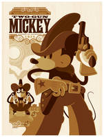 mondo: two-gun mickey variant by strongstuff
