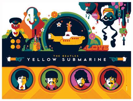 beatles: yellow submarine: titlecard