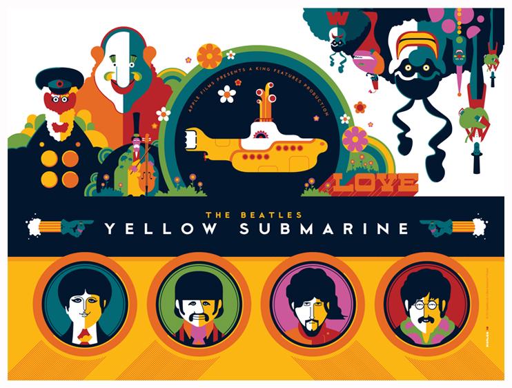 Aparador De Inox Para Cozinha ~ beatles yellow submarine titlecard by strongstuff on