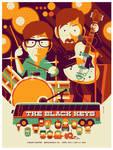 black keys: denver: gig poster