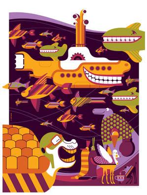 beatles: yellow submarine: undersea