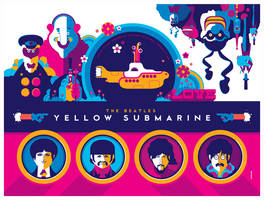 beatles: yellow submarine: titlecard variant by strongstuff