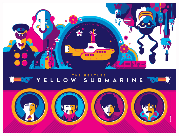 Beatles Yellow Submarine Titlecard Variant By Strongstuff