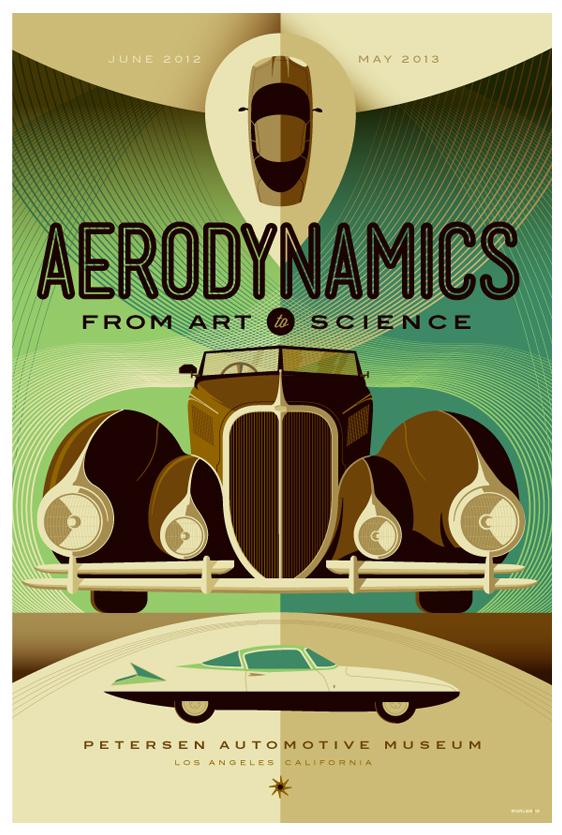 petersen automotive museum: aerodynamics poster by strongstuff