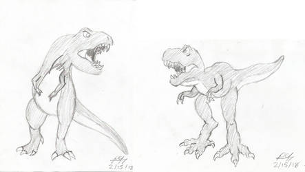 The Two T-rexes by PeterSFay