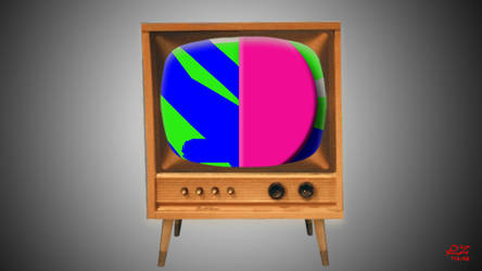 Some kind of retro television set.