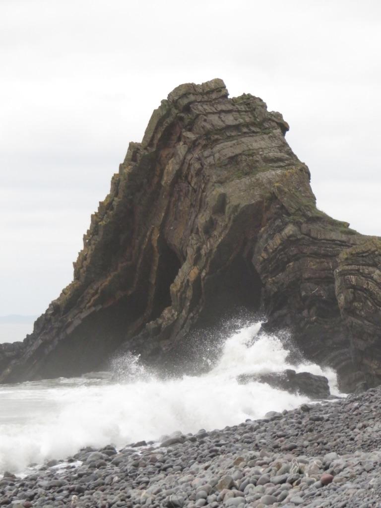 Tilting Geology - BlackChurch Rock by Tish-Underwood