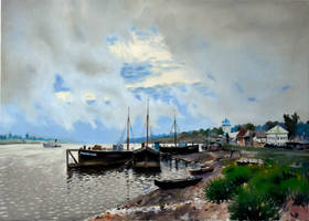 Work of study After Rain in Ples by Levitan