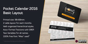 Pocket Calendar 2016 Basic Layout