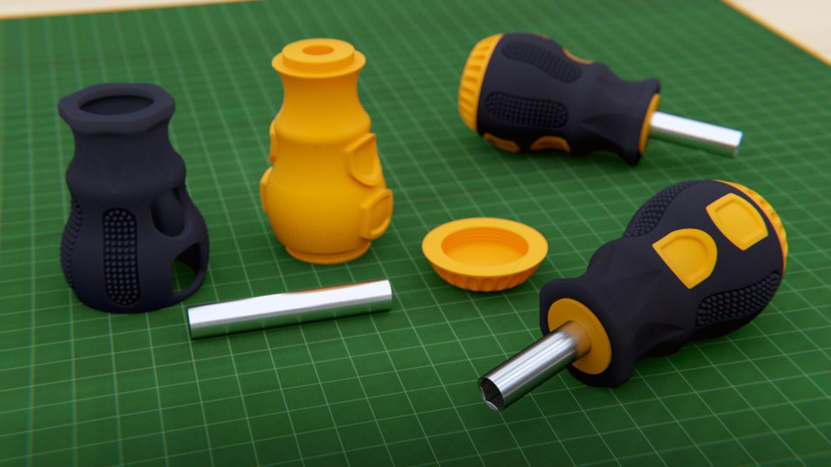 Mini Screwdriver free 3D print model by M-O-Z-G