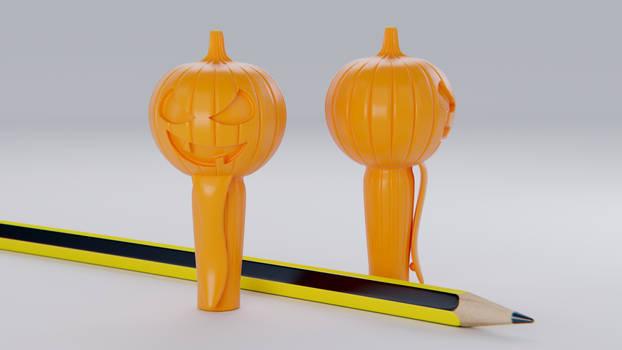 Pumpkin Pencil Cap 3D print model