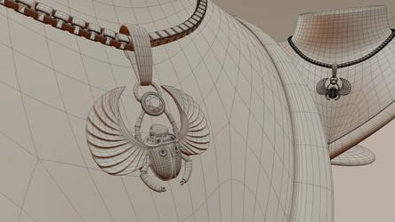 Scarab Pendant 3D print model by M-O-Z-G