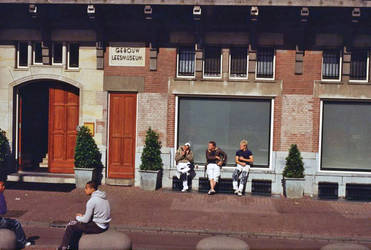 amsterdam: gebouw leesmuseum