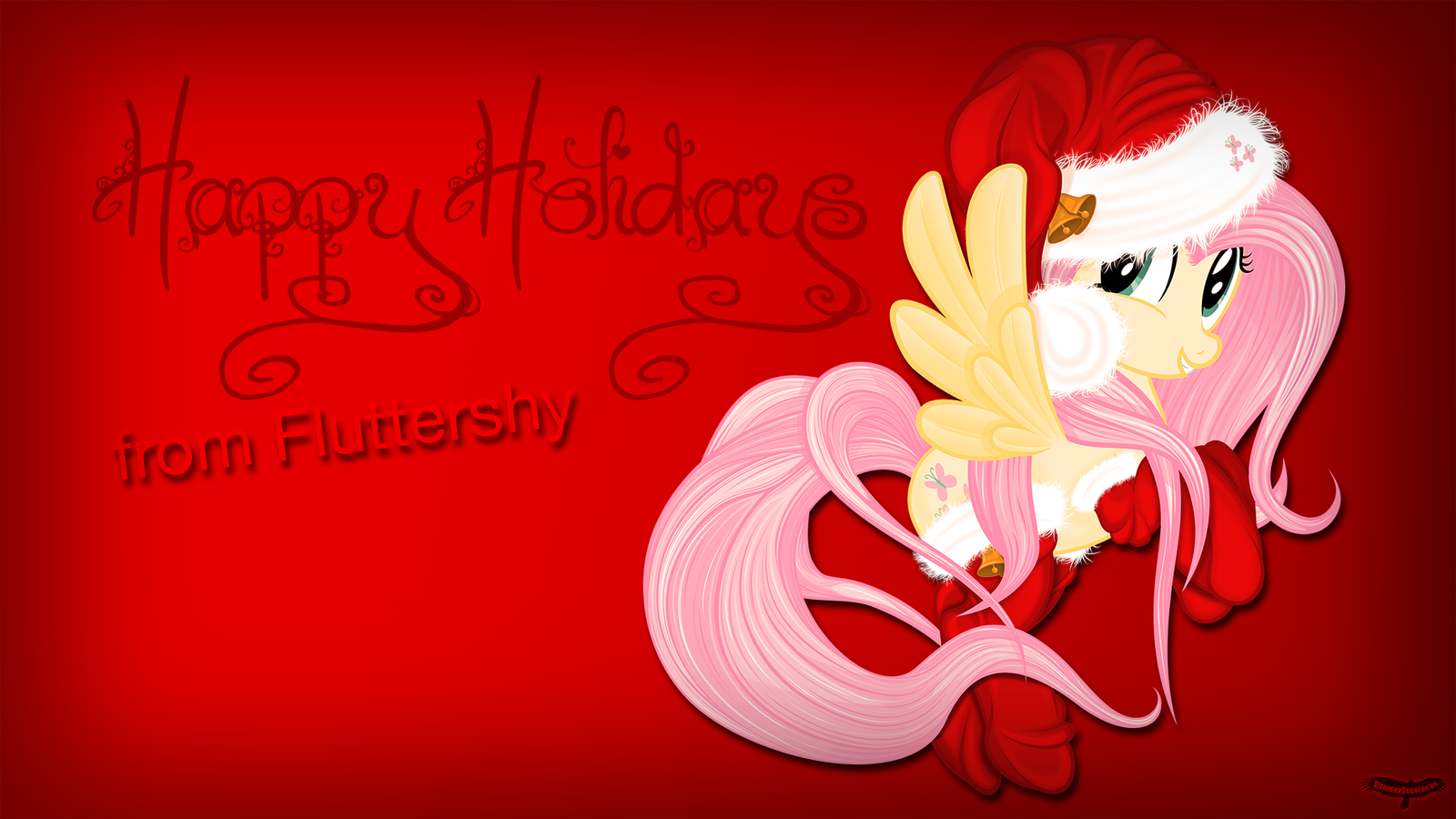 Happy Holidays from Fluttershy by UtterlyLudicrous