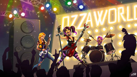 Evie, Tyra and Maeve in concert