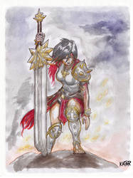 Bellona Watercolor by M-Katar