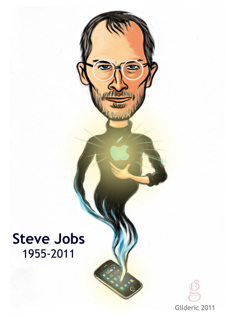 Steve Jobs by gilderic