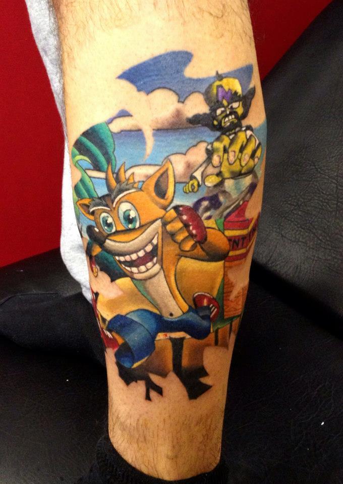 crash bandicoot tattoo by danetattoo crashy news